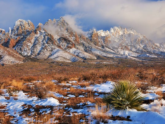 Organ Mountains with snow