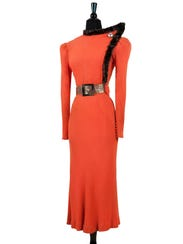 From The Roddis Collection, a form-fitting 1934 dress