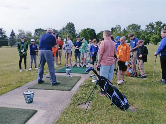 Area golf pro Steve Grimes conducts a clinic for youth on behalf of the Heart of Ohio Junior Golf Association. The clinic along with the 2020 season is set to start in June.