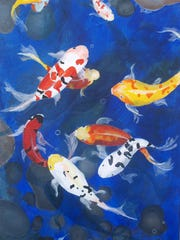 """Koi Fish No. 2"" by Ilga Ziemins-Kurens"
