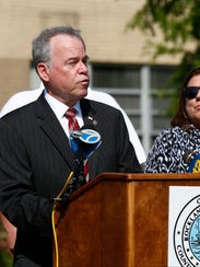 County Executive Ed Day speaks at a press conference