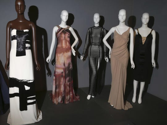 The exhibition offer a wide range, from a wedding gown to a Playboy bunny uniform.
