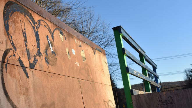 The Village of Warwick cleaned off graffiti that was discovered Monday afternoon on the ramps at Warwick's skatepark on Memorial Park Drive. Some of the graffiti involved hateful language and swastikas, according to a village resident who saw it.