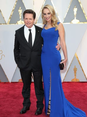 Oscars 2017 trump 39 s muslim ban takes hit for Michael j fox and tracy pollan love story