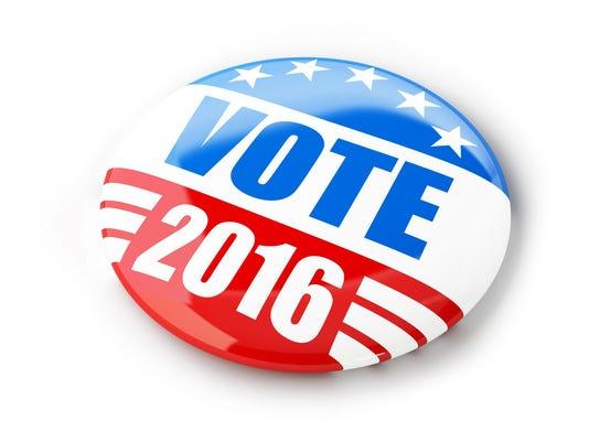 Vote election campaign badge button for 2016