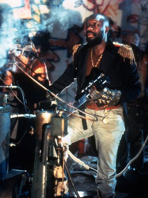 "Isaac Hayes in ""Escape from New York"" (1981), directed by John Carpenter."