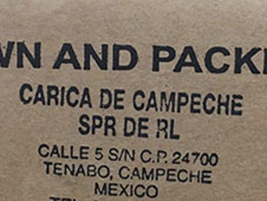 Cavi and Valery brand papayas from Mexico's Carica