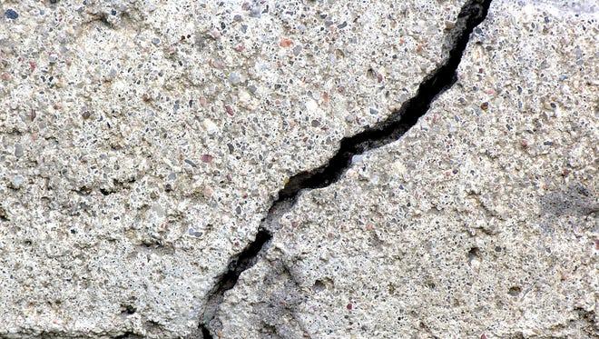 Crack in concrete