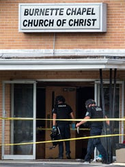 Nashville police investigate after a shooting at the