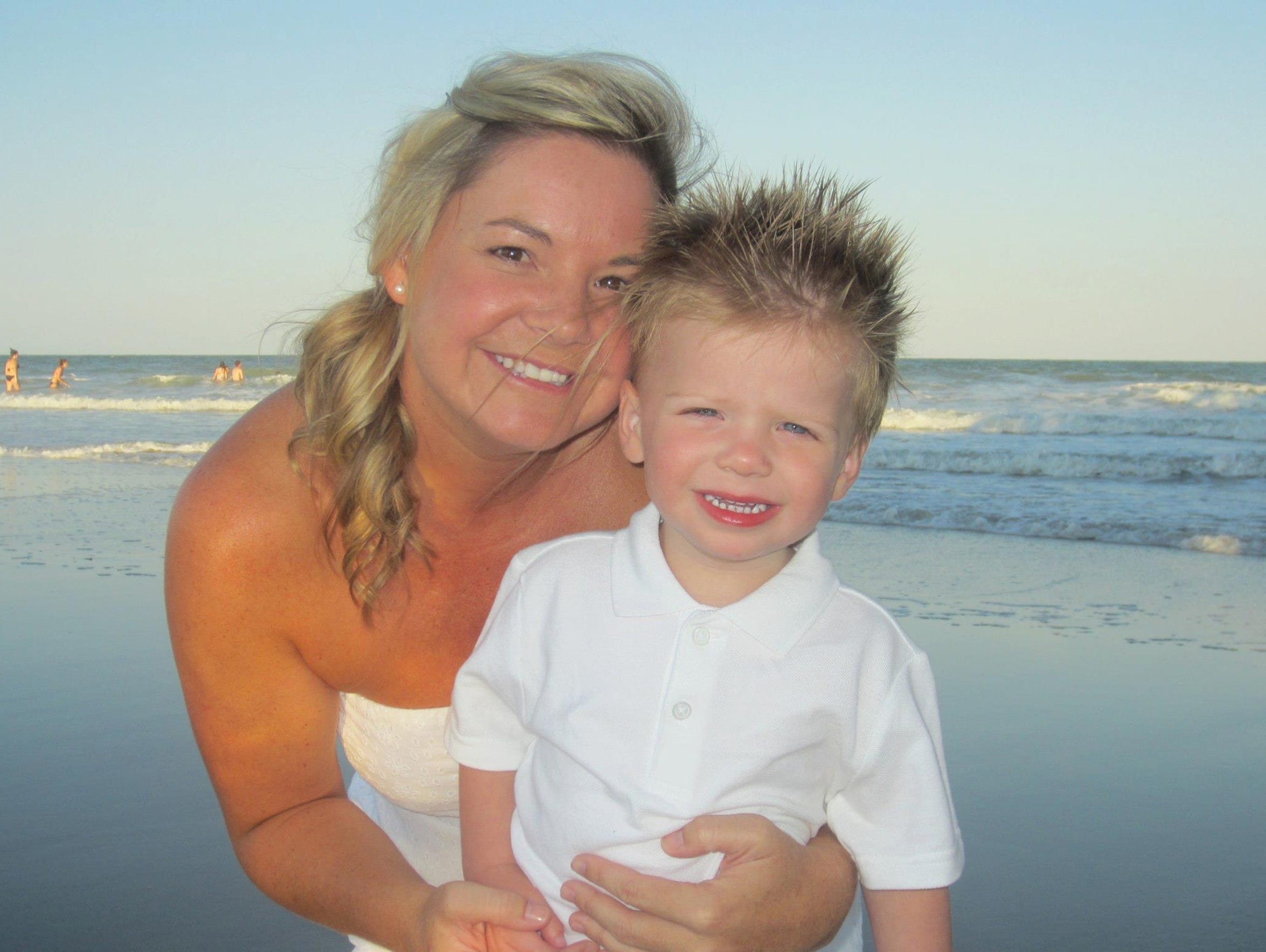 Mommy and Tripp, before the accident.