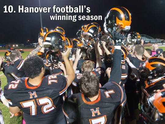 The Hanover Nighthawks celebrate after winning their