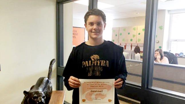 Danny Leach, Palmyra Area Middle School student