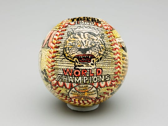 George Sosnak was a major league umpire who had a passion for folk art on the side. The baseballs he embellished with hand-painted portraits and stories often were commemorating major events in players' lives.