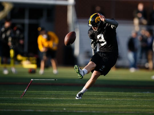 Iowa sophmore kicker Keith Duncan is hoping for another chance to shine after the Hawkeyes' starting kicker, Miguel Recinos, graduated last year.