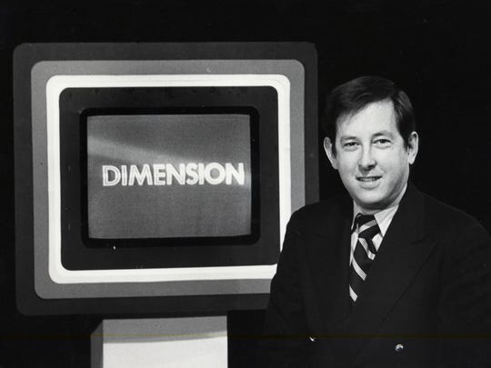 """Marselis Parsons shown on the set of """"Dimension,"""" the WCAX news magazine."""