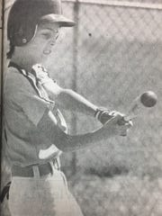 Jeremy Curtis batted a triple in the Baseball Jamboree in May 1989.