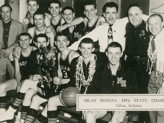 Milan High School 1954 state champions