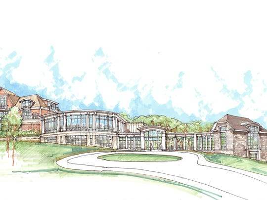 A rendering of the proposed building.