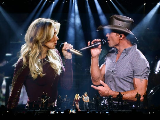 """Tim McGraw & Faith Hill """"Soul2Soul"""" tour on July 21, 2017 at Gila River Arena in Glendale, Ariz."""