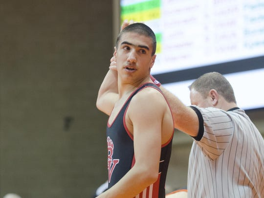 Brandon Valley's Damion Schunke is the top-ranked grappler at 160 in Class A according to Dakota Grappler.