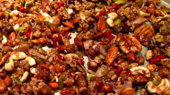 Sweet and salty granola.