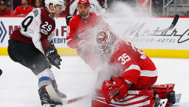 Red Wings goalie Jimmy Howard says he has to watch out for eating too much stuffing on Thanksgiving.