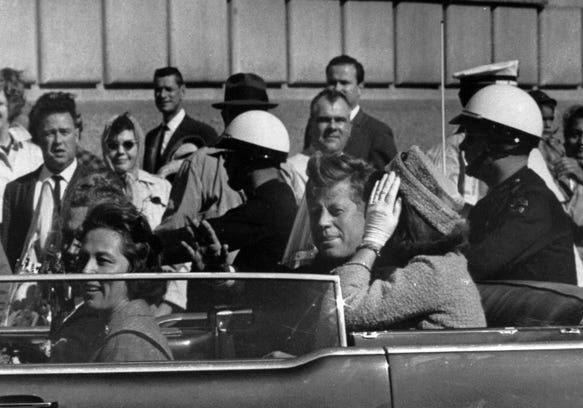 a look at a conspiracy theory on the assassination of president john f kennedy Jump to: navigation, search president john f kennedy, jackie kennedy, nellie  connally, and texas governor john connally, minutes before the assassination  the assassination of john f kennedy on november 22, 1963 has spurred  numerous  president john f kennedy was assassinated by gunshot while  traveling in a.