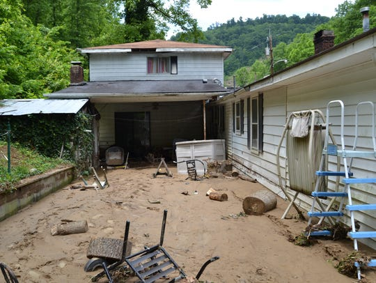 Mud and debris made this mess at a Pike County home.