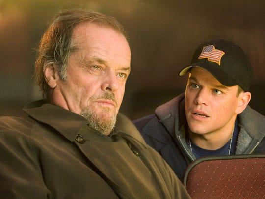 "BESTWORSTFILMS -- Jack Nicholson, left, and Matt Damon star in ""The Departed"" (2006)."