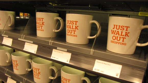 Just Walk Out shopping mugs for sale at the Amazon