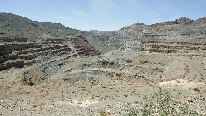 This massive pit in the Eagle Mountain area was once used for iron ore mining.