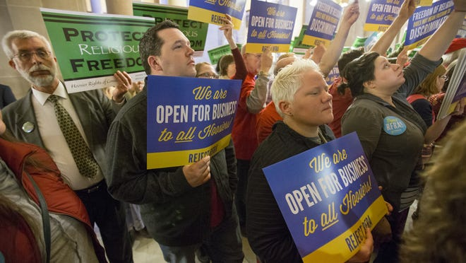 The debate over Indiana's Religious Freedom Restoration Act drew impassioned supporters and opponents.