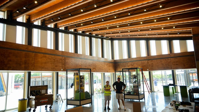 A view from inside the State Fair's new History and Heritage Center in Falcon Heights