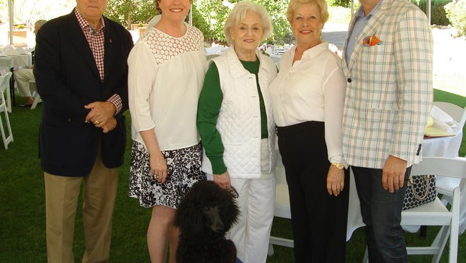(left to right) Steve Maloney, Executive Director of Guide Dogs of the Desert Sarah Clapp, event co-chair Peggy Greenbaum, Yvonne Maloney, and event co-chair Patrick Mundt.