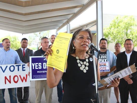 Patra Falcón, directora de Promesa Arizona, sostuvo