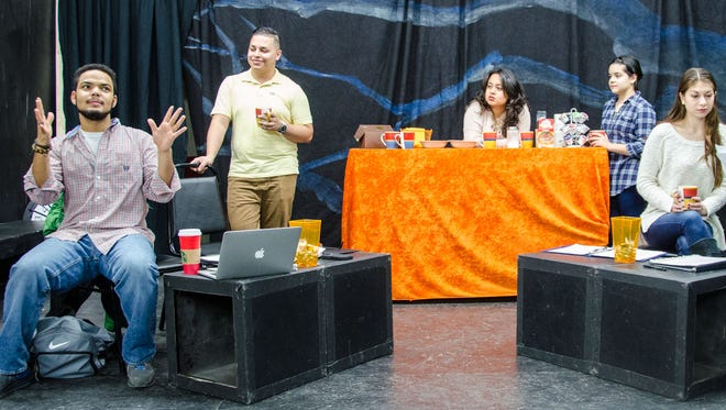 One-act play blends the many flavors of being Latino. A writers group gathers at La Taza - Cafe rico con sabor; a coffee shop serving up more than just coffee....cultural conversations are always on the menu.