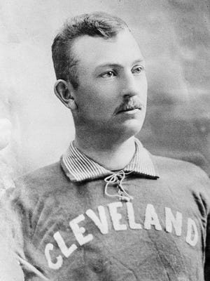 Cleveland pitcher Cy Young poses in this undated photo at an unknown location.  Young made his major league debut in 1890 and pitched for five teams during his 22-year career.  The right-hand pitcher, winner of more major league games than any other pitcher, threw 749 complete games and won 511 games, both records.  Young was elected into the Baseball Hall of Fame in 1937.  He was born in 1867 and died in 1955.  The Cy Young Award was created in 1956 to honor the best major league pitcher annually.