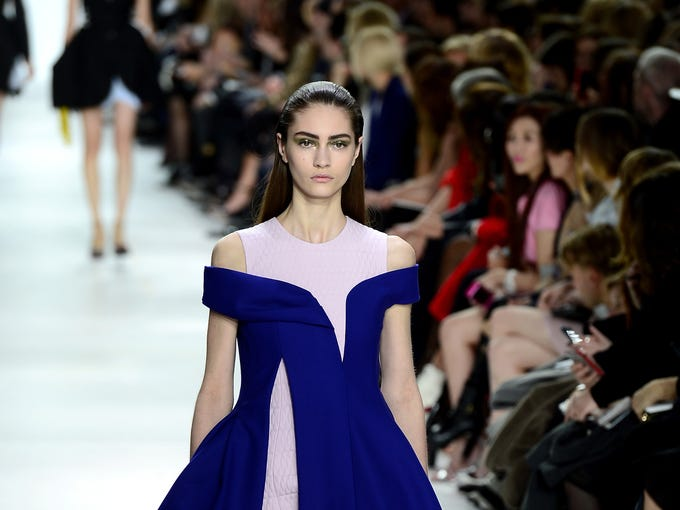 PARIS, FRANCE - FEBRUARY 28:  A model walks the runway during the Christian Dior show as part of the Paris Fashion Week Womenswear Fall/Winter 2014-2015  on February 28, 2014 in Paris, France.  (Photo by Dominique Charriau/Getty Images)