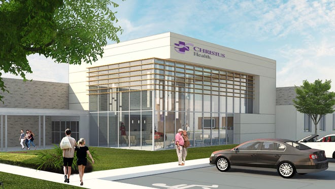 A drawing of the new Christus facility