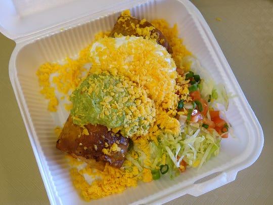 Beef Chimichanga ($6.95) at Carolina's in Peoria.