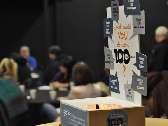 "The Central Louisiana Economic Development Alliance will launch a ""100 Days of Making"" project on Feb. 1 as part of its Maker Mornings. A registration box set  out at the first meeting of 2016 asked ""What could you do with 100 days?"""