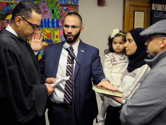 Fahim Abedrabbo was sworn in as a Clifton school board