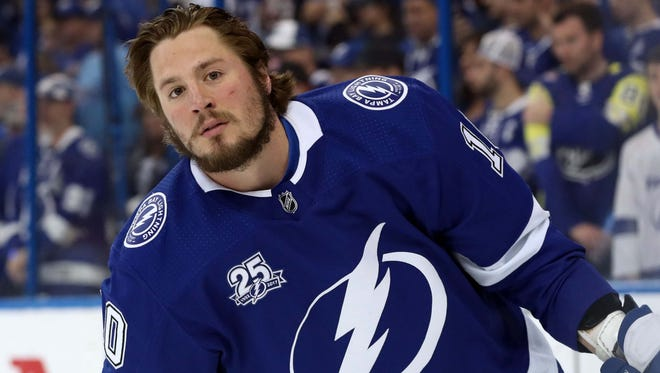 Tampa Bay Lightning center J.T. Miller will have a $5.5 million cap hit in his new deal.