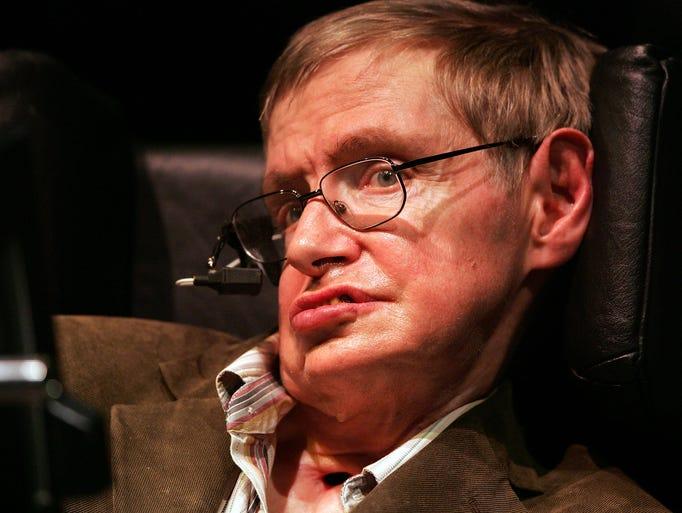 Physicist Professor Stephen Hawking speaks at Zellerbach