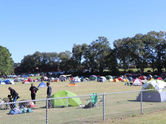Blackpot Festival and Cookoff attendees camp out near