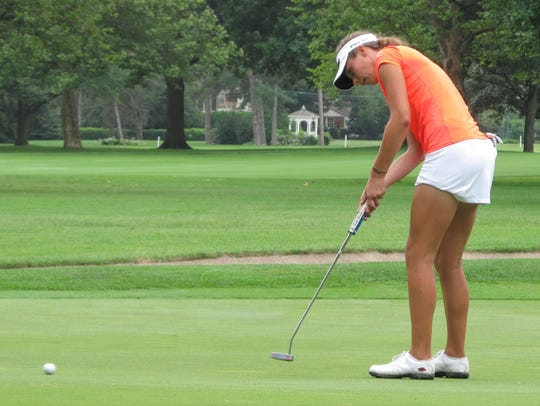 Julia Dean of Brighton lost the first two holes of