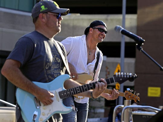 Lance Crane, left, and Greg Gill of Mistrial perform