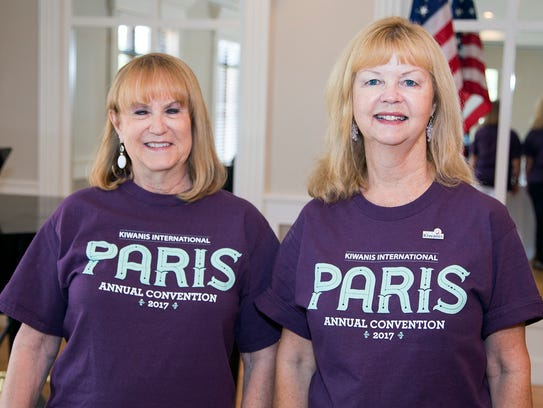Kiwanis Club of Abilene members Janis Thompson (left)