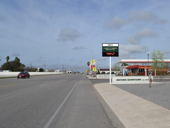 Taft is among the San Patricio County communities that are gearing up for the arrival of Exxon's $10 billion ethylene cracker plant. This is an artist rendering of U.S. Highway 181, one of the main streets in Taft.