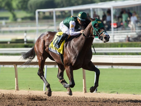 Bolt d'Oro will race in the Runhappy Metropolitan Handicap on June 9, 2018.
